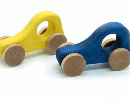 5 hochwertige Spielzeugautos aus Holz für Babys und Kleinkinder