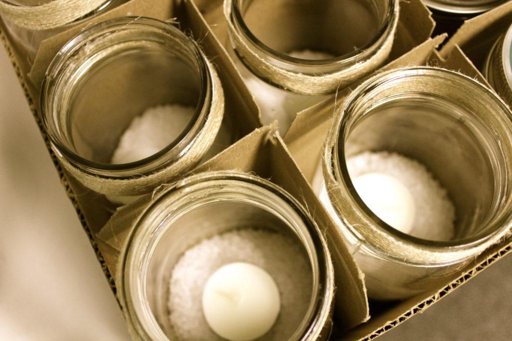 Salz-Glas als Geschenk bei Hochzeit - selber basteln